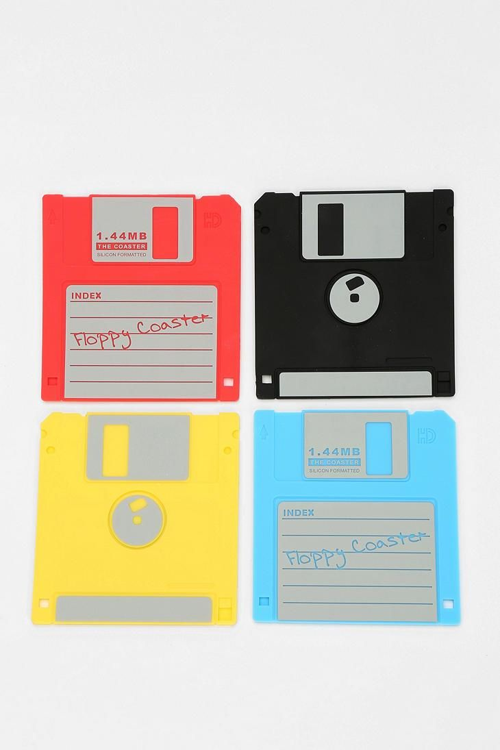 Floppy Disk Coaster - Set Of 4 #urbanoutfitters