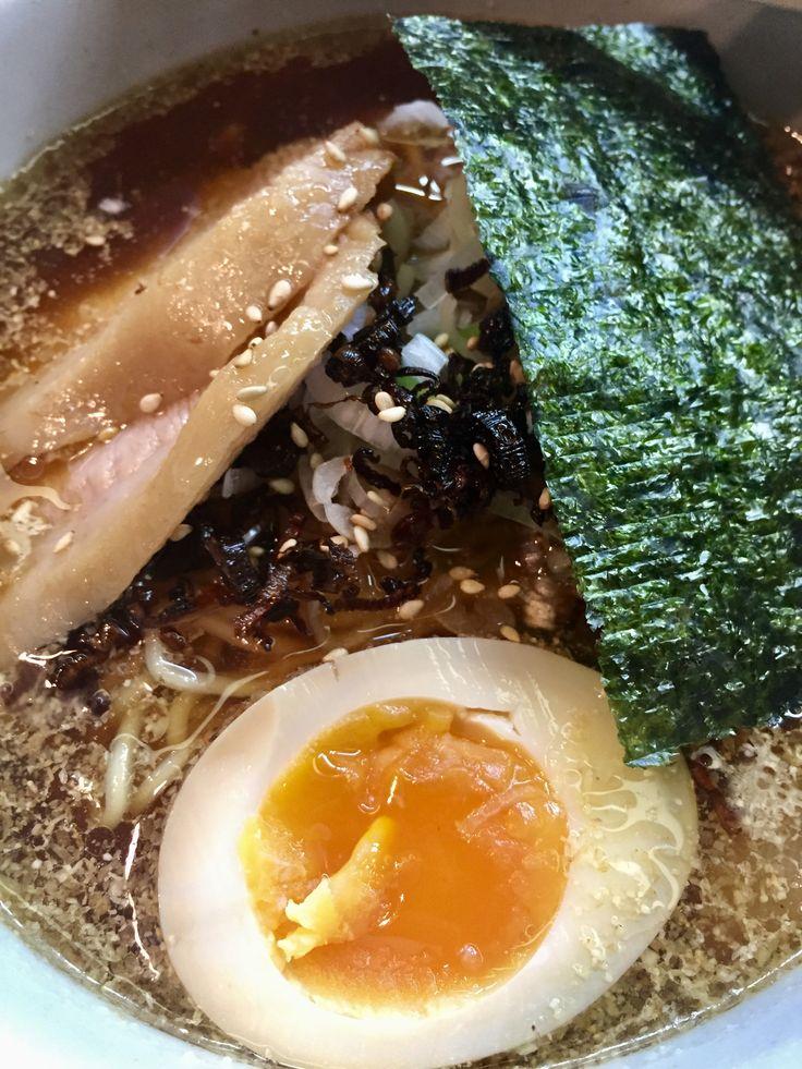 山頭火 渋谷の 冷やし醤油 スープもいい感じ