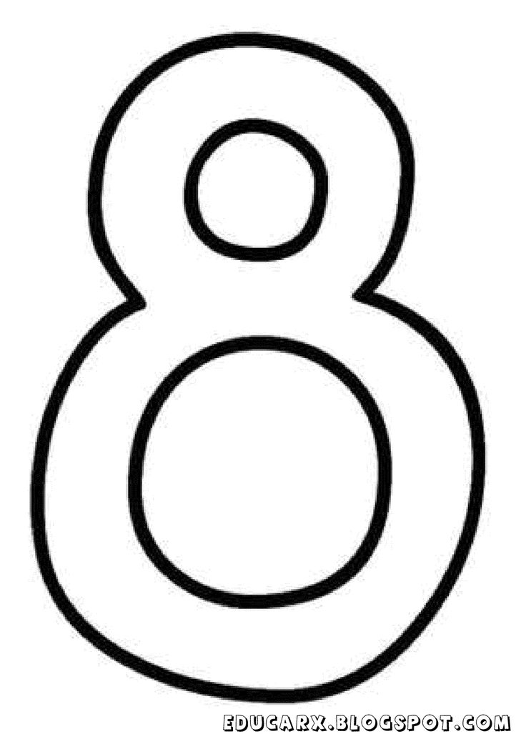 Molde do numero 8