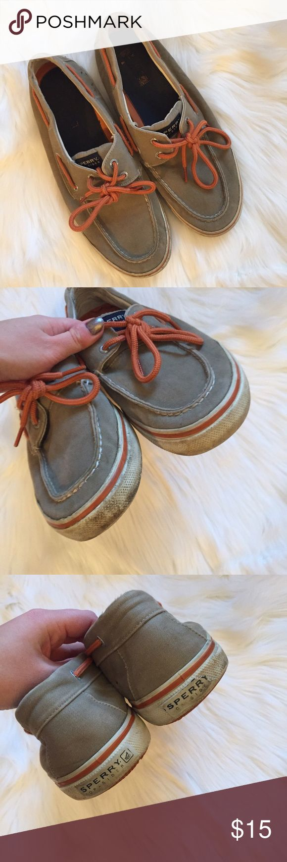 Men's Canvas Sperry Boat Shoes Good used condition. These are dirty and do have some noticeable wear, hence the low price. Noticeable wear, dirt and pen marking on lower back side. All sales final. Price is firm. Men's size 11M Sperry Top-Sider Shoes Boat Shoes