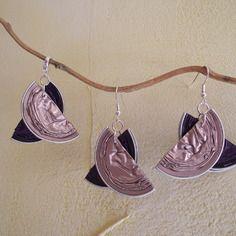 Boucles d'oreilles et pendentif en capsule nespresso