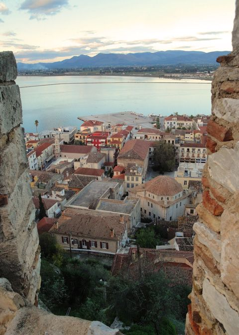 Old town of #Nafplio through the walls of #Akronafplia Castle
