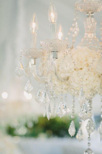 Crystal chandeliers: http://www.stylemepretty.com/canada-weddings/british-columbia/vancouver/2015/03/17/elegant-vancouver-botanical-garden-wedding/ | Photography: Taryn Baxter - http://blog.tarynbaxter.com/
