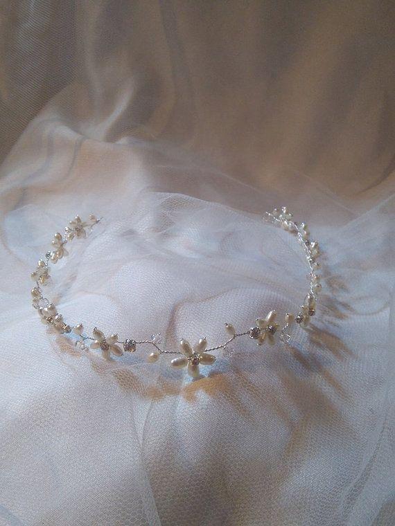 Handmade Halo Bridal headpiece wedding by HelenCurtisTiaras