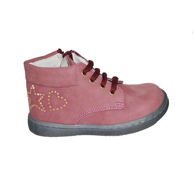 #girls #shoes Μποτάκι Mούγερ για τα πρώτα βήματα, δερμάτινο-σαμουά, μπορντό με κορδόνια, φερμουάρ στο πλάι και ανατομικό πέλμα.  www.mouyer.gr/paidika-papoutsia/koritsia/mouger-3-botaki-prota-vimata-dermatino-samoua-bornto_53599/