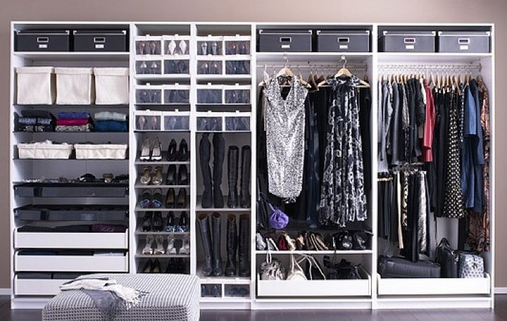 Ikea closet organization systems installation walk in for Walk in closet organizer ikea