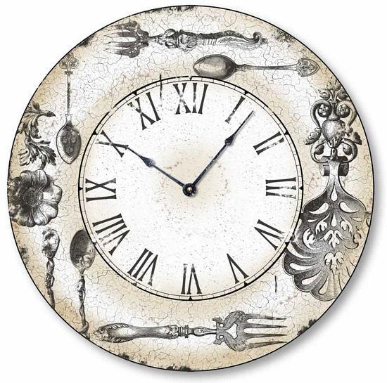 Número Relógio C5122 estilo antigo de prata ornamentado