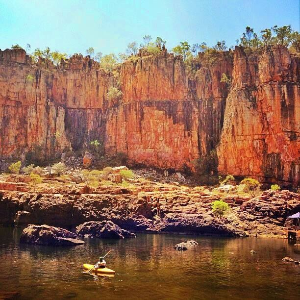 The beauty of the outback, untouched wilderness and adventure by canoe in Nitmiluk National Park (Katherine Gorge) was captured perfectly by @bookhopper (Instagram). Magic! Northern Territory Australia.