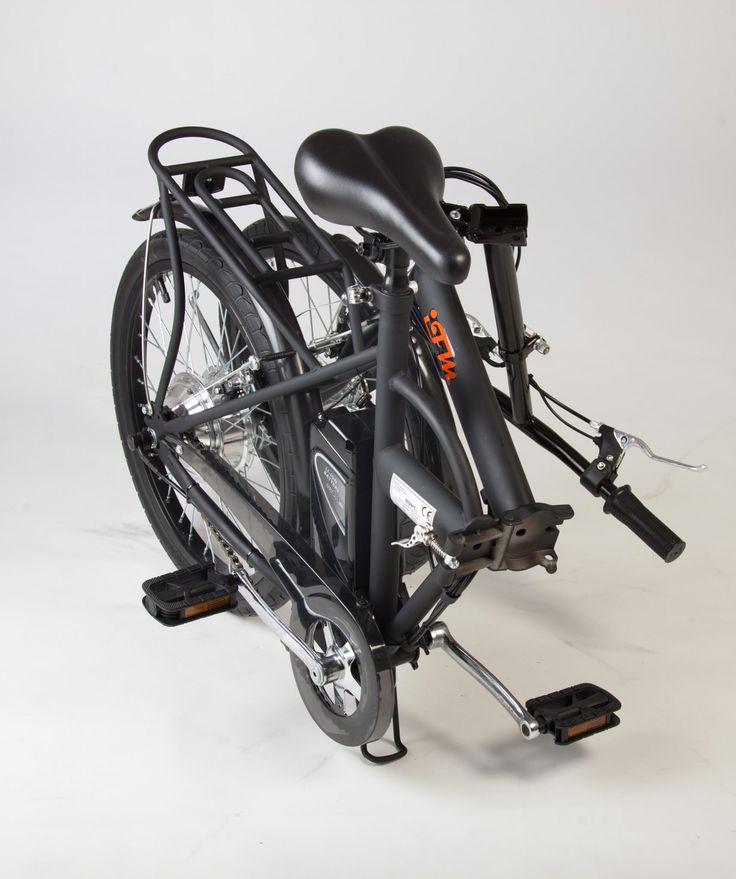 Bicicletta Elettrica IFM Nera Pieghevole Batteria Litio  — Import For Me