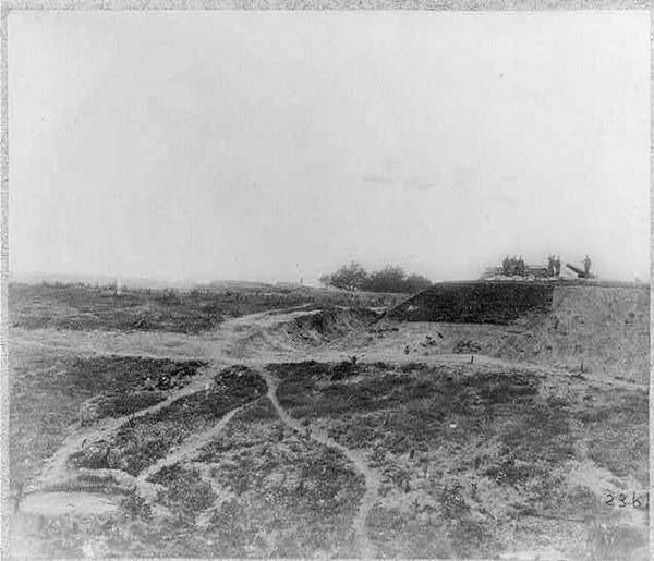 The Confederate Position at the Siege of Yorktown