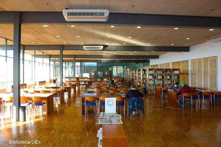 Sala de lectura de la biblioteca de la Facultyad de CC de la Documentación y Comunicación (Badajoz)