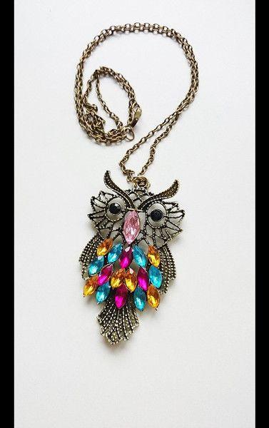 Geschenke für Frauen - Eule Halskette geschenk - ein Designerstück von atelier-house-decor bei DaWanda