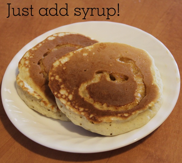 Make pancake batter as usual. Pour onto pan. Before you flip them, add a small spiral of syrup! Flip, let finish cooking and serve! no messy, sticky syrup on your plate. MUCH nicer for kids!: Pancake Batter, For Kids, Cooking Syrup, Lazy Pancakes, Sticky Syrup, Finish Cooking, Small Spirals, Food Cooking, Pancakes Batter
