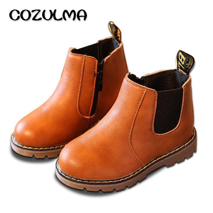 COZULMA Musim Semi Musim Gugur Anak Laki-laki Perempuan Sepatu Anak Sepatu Anak Laki-laki Perempuan Martin sepatu Kulit Buatan Tangan Sepatu Bayi Laki-laki Perempuan Sepatu