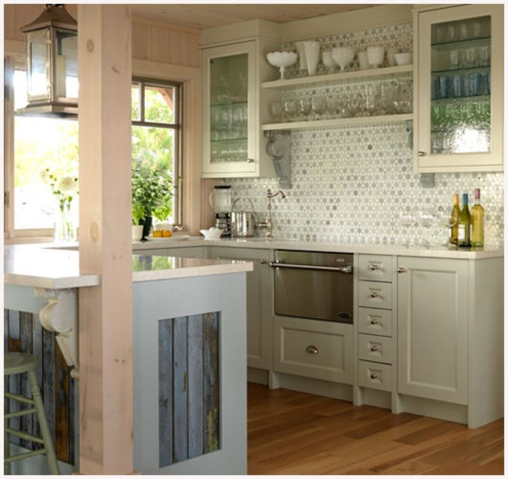 Minimalist Cottage U Shaped Kitchen Style Interior With Plenty Glass Racks  And Wooden Floor Cottage Style Kitchen Design Inspirations Cottage Style  Kitchen ... Part 93
