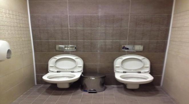 Jeux Olympiques de Sotchi : quand internet s'enflamme pour des toilettes doubles