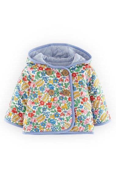 $40 Mini Boden Quilted Reversible Cotton Jersey Jacket (Baby Girls) available at #Nordstrom