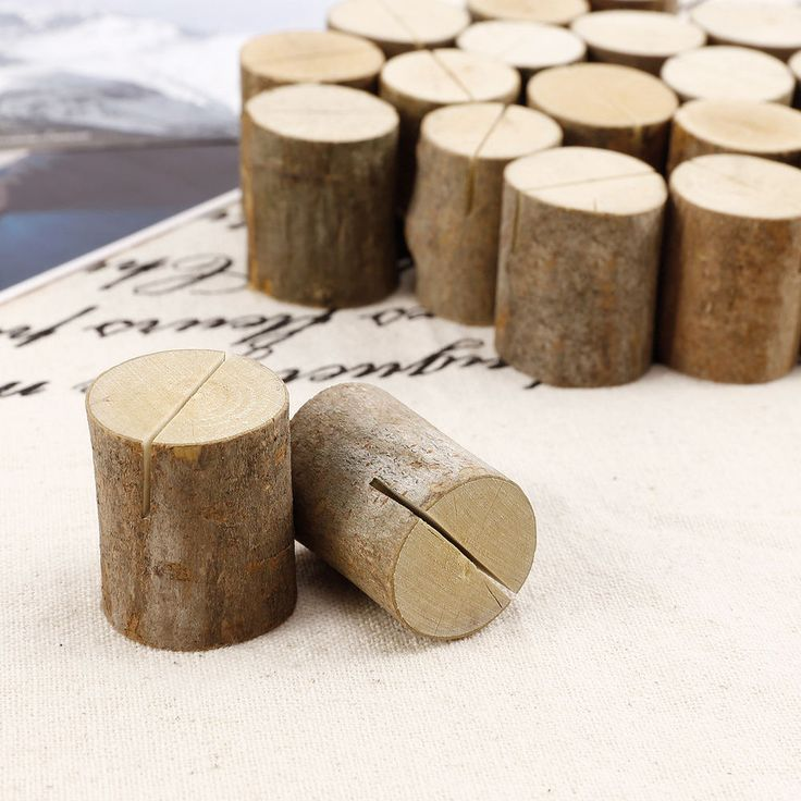 50x wooden wood place card name holders restaurant party rustic wedding in home furniture u0026