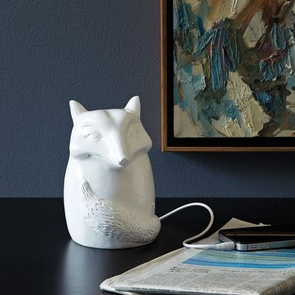ceramic fox speaker  eclectic home electronics by West Elm