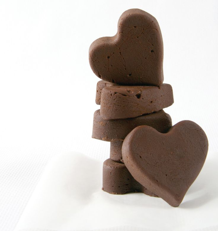 Heart-shaped fudge. Say I love you and make someone's day special with this lovely heart-shaped fudge, it's easy to make, but has a lasting effect.