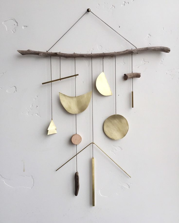 """Brass geometric wall hanging + geometric mobile // """"Lucent"""" // Ready to ship by ELECTRICSUNCREATIVES on Etsy https://www.etsy.com/listing/249293210/brass-geometric-wall-hanging-geometric"""