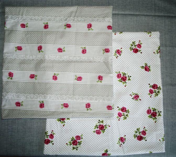 2  tolle kissenbezüge 50x50 mit rosen von toertchenfrau via dawanda.com