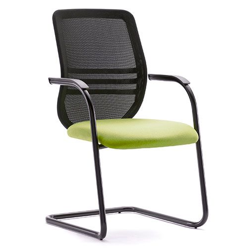 Office Chairs No Wheels. Pledge Office Bass Mesh Back Green Cantilever Chair  Chairs No Wheels