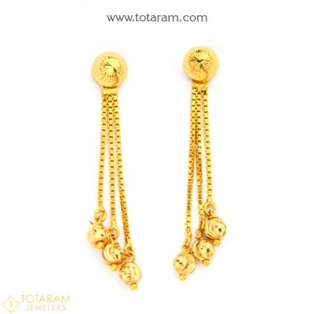 050467e7b77325 22K Gold Drop Earrings for Women - 235-GER8482 - Buy this Latest Indian Gold  Jewelry Design in 3.850 Grams for a low price of $278.99