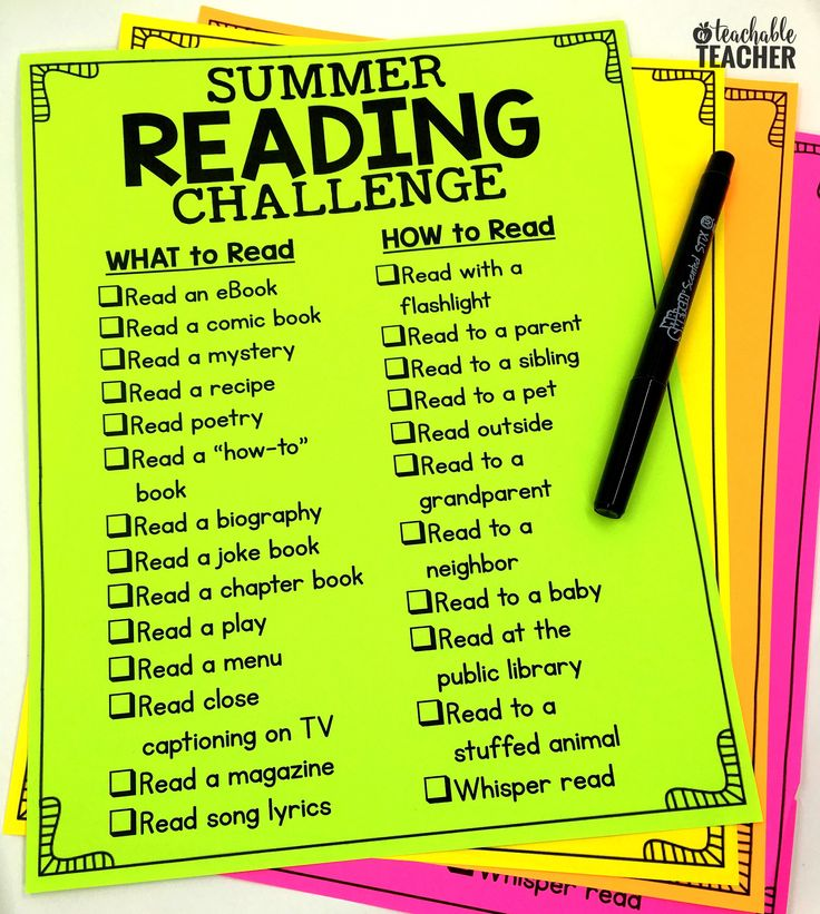 This is such a way fun to do a Summer Reading Challenge for kids! Go to the website to download the free printable.
