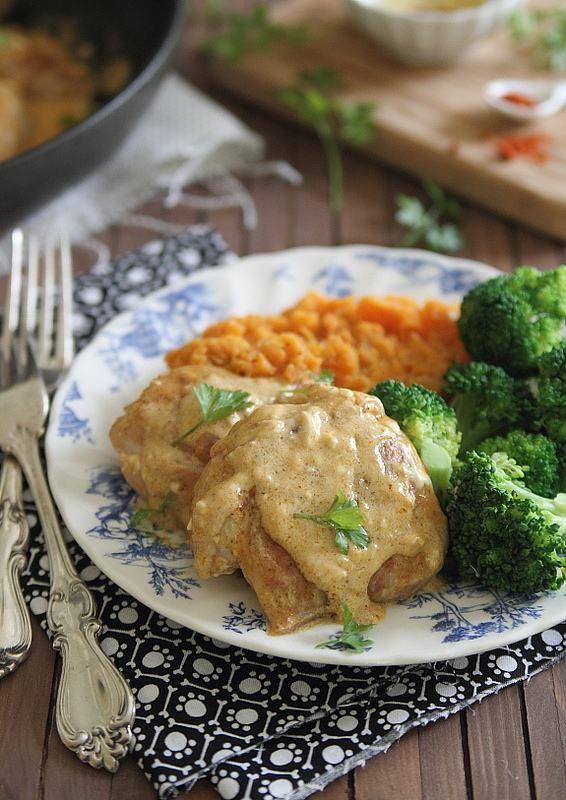 5 Spice Cream Cheese Chicken | runningtothekitchen.com