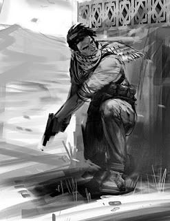 Drake Action Sketches - Uncharted 3