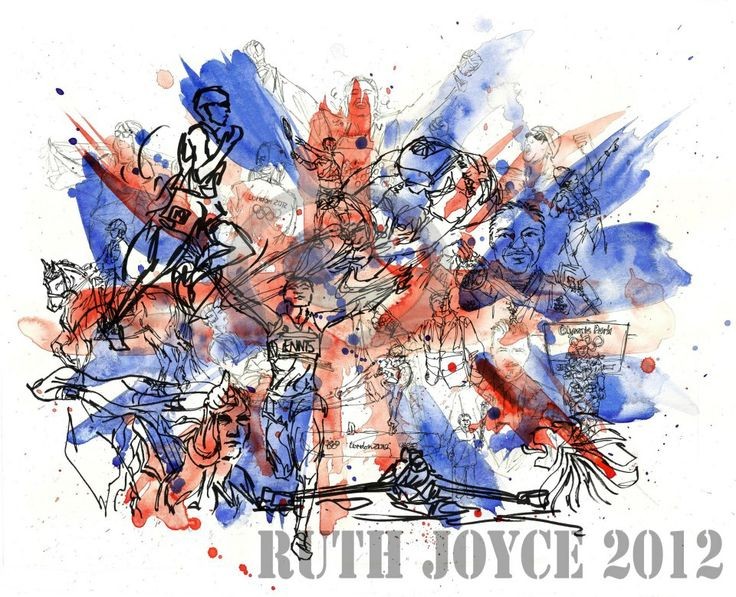 A celebration #illustration of the #London  #ruthjoyceart Olympics 2012 #art #sport #london2012