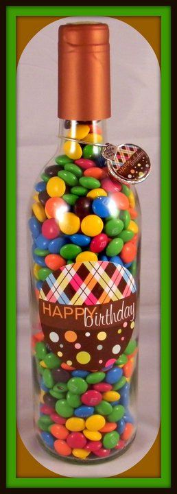 Candy filled wine bottles. mmm chocolate is about the only thing you can substitute for wine : )
