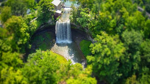 Decew Falls - St. Catharines, Ontario, Canada Aerial Photography Collection with a Tilt and Shift Effect. © Les Lorek Photography