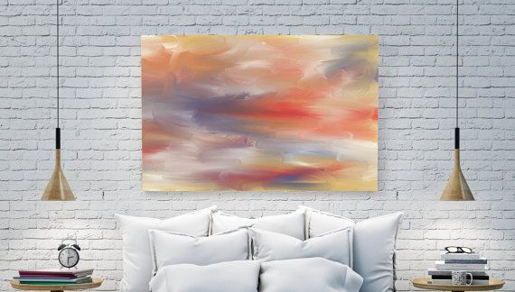 Malerei orange  Malerei Strand  Malerei  Meer von DreamingArtDE