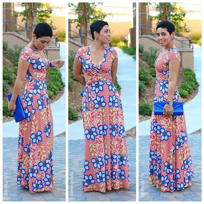 Floral Print Wrap Dress + The Regal Maxi Is Back! #MimiGStyle #sewingissexy