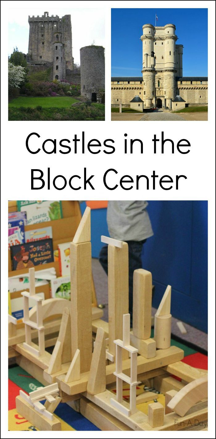 Pictures of real castles in the block center can lead to awesome engineering projects for kids to try! #PLAYfulpreschool  *Includes free printable*