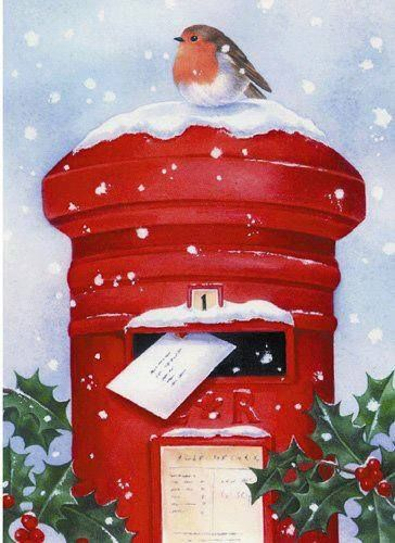 Christmas Robin on postbox