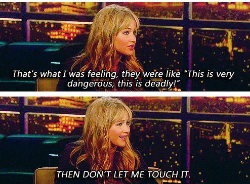 Jennifer Lawrence talks about learning archery