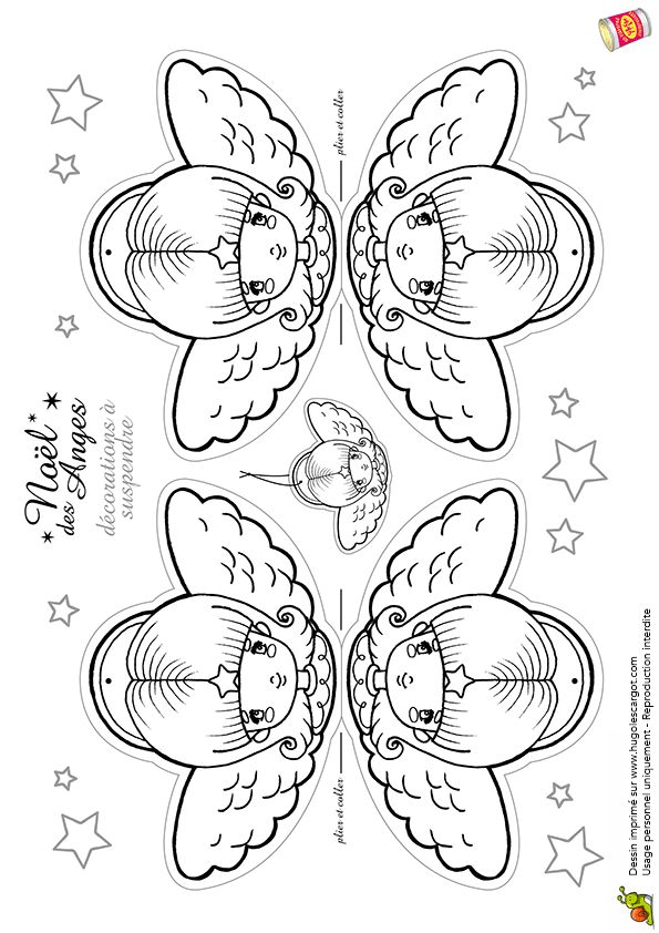 Anges De Noel Decorations A Suspendre, page 1 sur 12 sur HugoLescargot.com