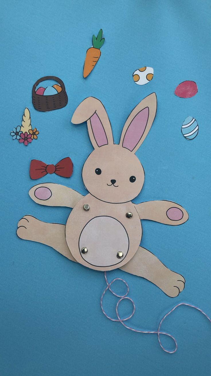 Easter Bunny Paper Puppet – Easy STEAM Exercise for Easter – Pink Ted Artwork's Weblog