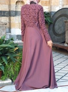 Embroidered Petals Gown - Abayas & Dresses - Women