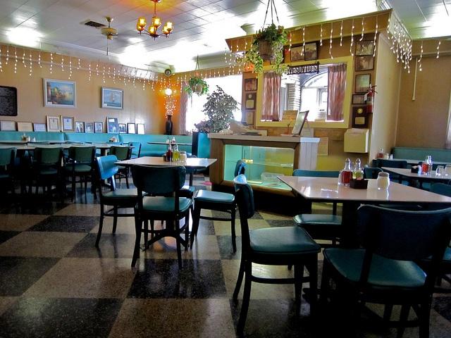 I love these Aqua Booths! Vesuvio Restaurant Belmar NJ by Mod Betty / RetroRoadmap.com, via Flickr