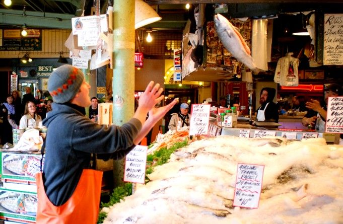 Pin by kimberly stone on bucket list pinterest for Pike place fish market video