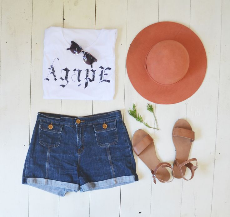 Styling our Agape muscle tank tee in this sweet picnic look in preparation for this gorgeous warmer weather ... Agape is now $25 // buy tee online at www.projectoutward.com