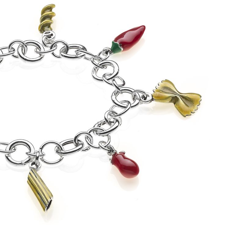 Sterling Silver Luxury Pasta Bracelet - 249 Euro Free worldwide shipping over 99 Euro