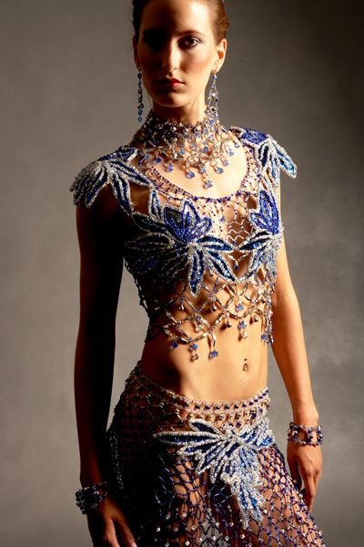 Beaded Dress by Gail Be Designs