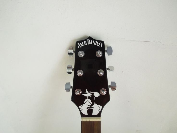 Jack Daniel's Custom Guitar - Airbrushed by PAZ.