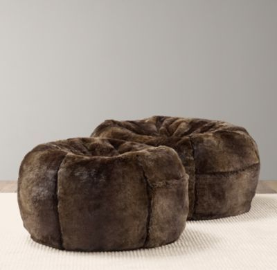 Luxe Faux Fur Bean Bag Bean Bags Restoration Hardware
