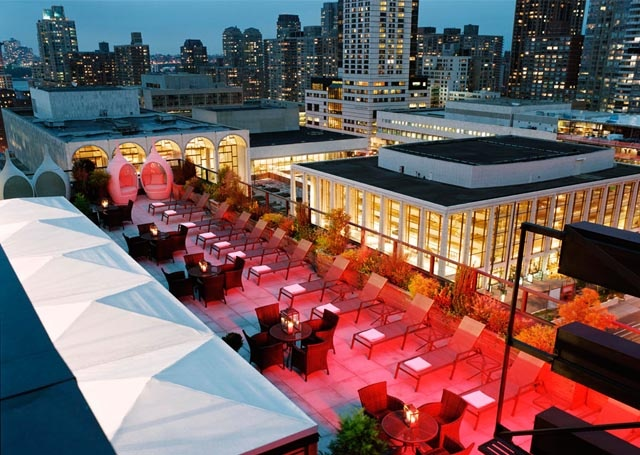 39 the rooftop bar lounge 39 empire hotel 44 west 63rd for Rooftop bar and terrace